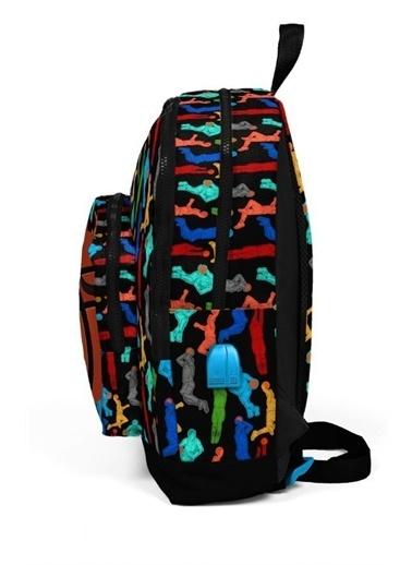 Yaygan Coral High Kids Dört Gözlü Erkek Çocuk İlkokul Çantası - Basketbolcu- USB+AUX Soketli Renkli